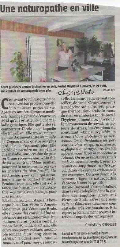 Charente libre du 01 09 2020