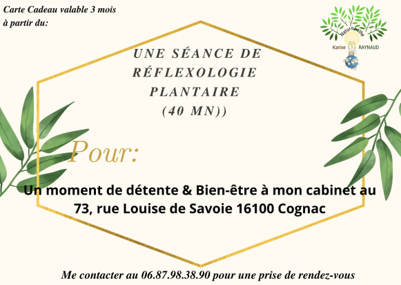 Carte reflexo plantaire