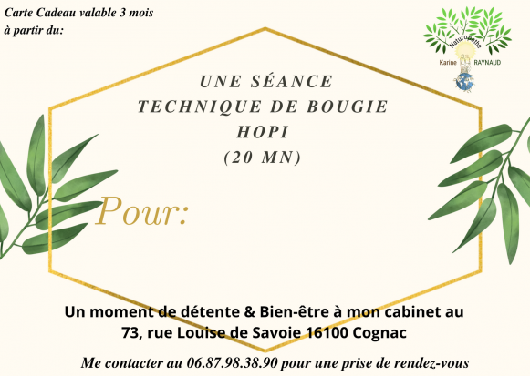 Carte technique bougie hopi