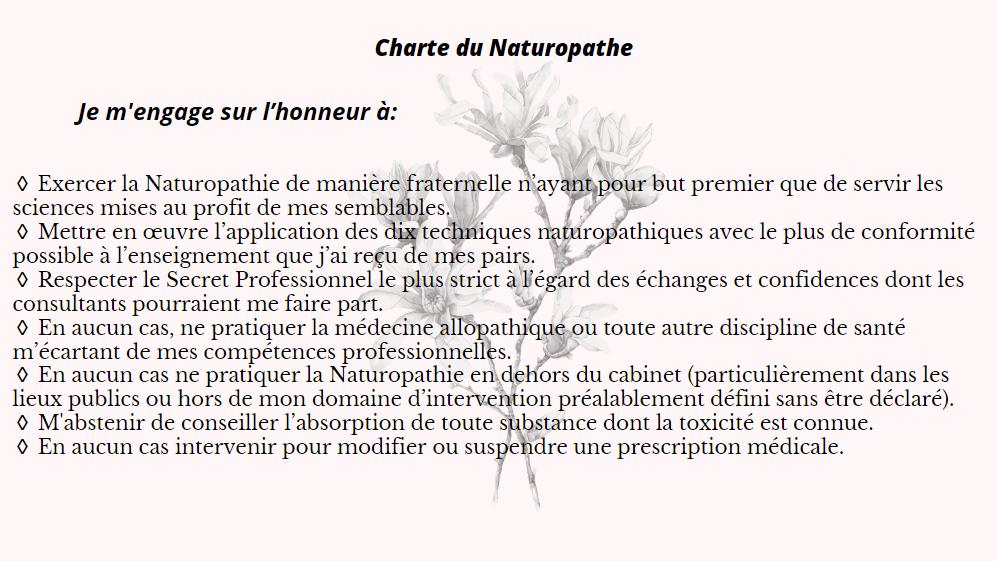 Charte du naturopathe